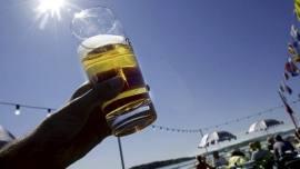 Utepils, øl, sol
