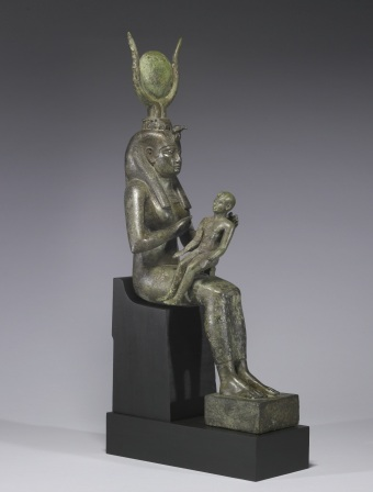 Egyptian_-_Isis_with_Horus_the_Child_-_Walters_54416_-_Three_Quarter_Right