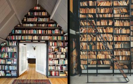 bibliotheque-mur-charpente-mansarde-livres