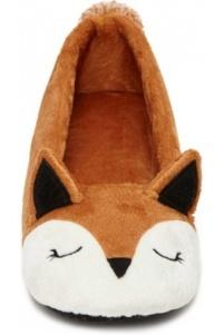 femme-chaussons-pantoufles-en-forme-de-renard